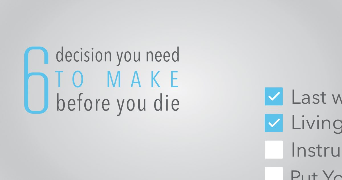 6 decisions you need to make