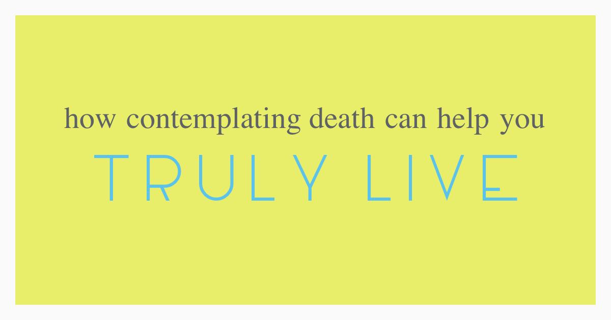 Contemplating death